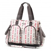 Baby Ono geanta mamici Comfort Glam 0m+, Grey&Red 01
