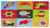 BabyGreat covor de joaca tip puzzle 90x90 cm pentru 3 ani+