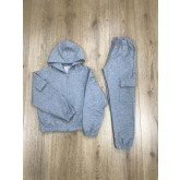 F&D compleu fete tip trening 2 piese 8-16 ani, Grey DL-8740