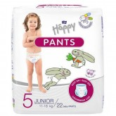 Happy scutece tip chiloti Pants 5 Junior 11-18 kg, 22 buc 01