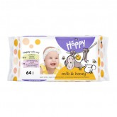 Happy servetele umede Milk&Honey 64 buc