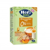 Hero Baby 8 cereale fara lapte cu miere 6 luni+, 340 g