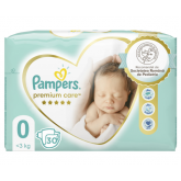 Pampers scutece  Premium Care, 0 New Baby,