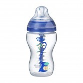 Tommee Tippee Biberon Advanced Anticolic cu tetina flux mediu si senzor de temperatura 3 luni+, 340 ml, Blue 01